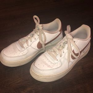 Nuke Air Force 1 with rose gold swoosh